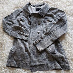 Hurley Gray Black Sweater Pea Coat